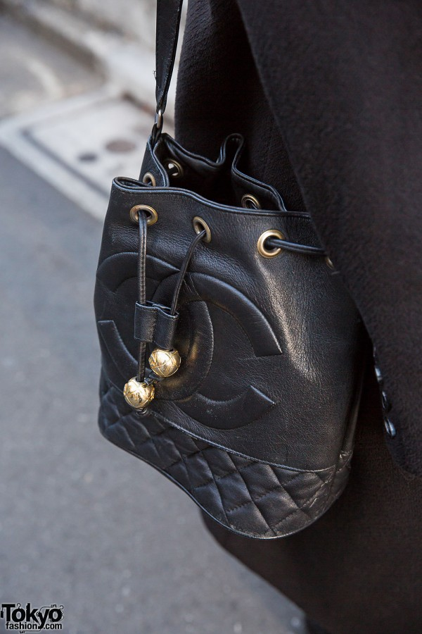Chanel Quilted Bucket Bag