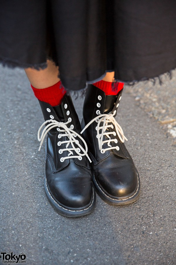 Dr. Martens Boots with White Laces in Harajuku