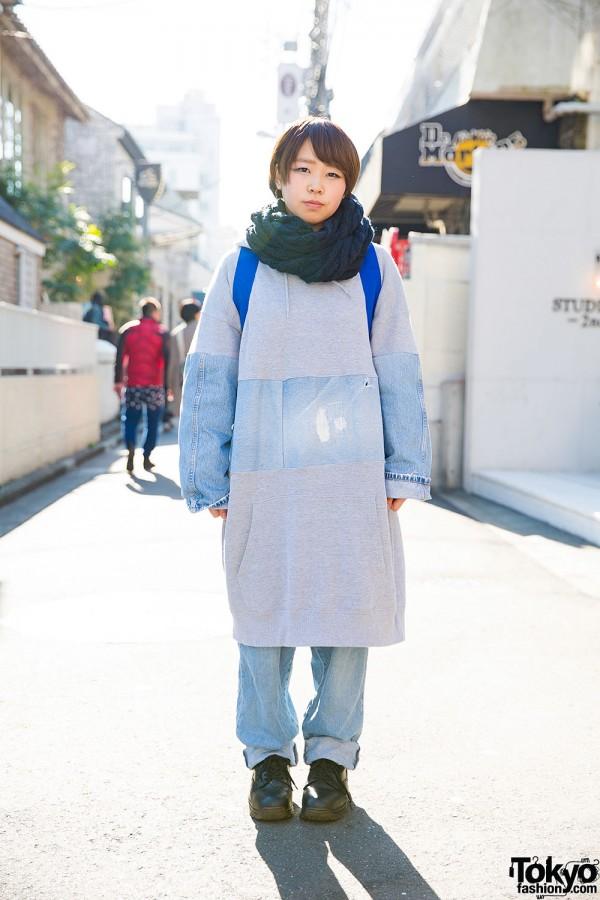 Harajuku Girl in Amatunal Sweatshirt, Resale Jeans & Dr. Martens Boots
