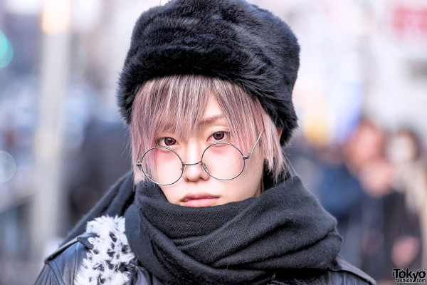 Faux Fur Hat, Scarf & Pastel Hair