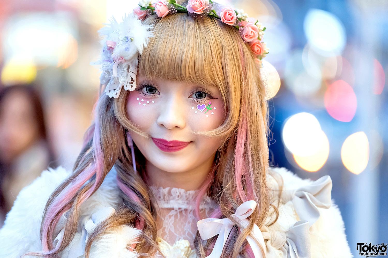 Pastel Harajuku Street Fashion W Swankiss Dress Flower Crown