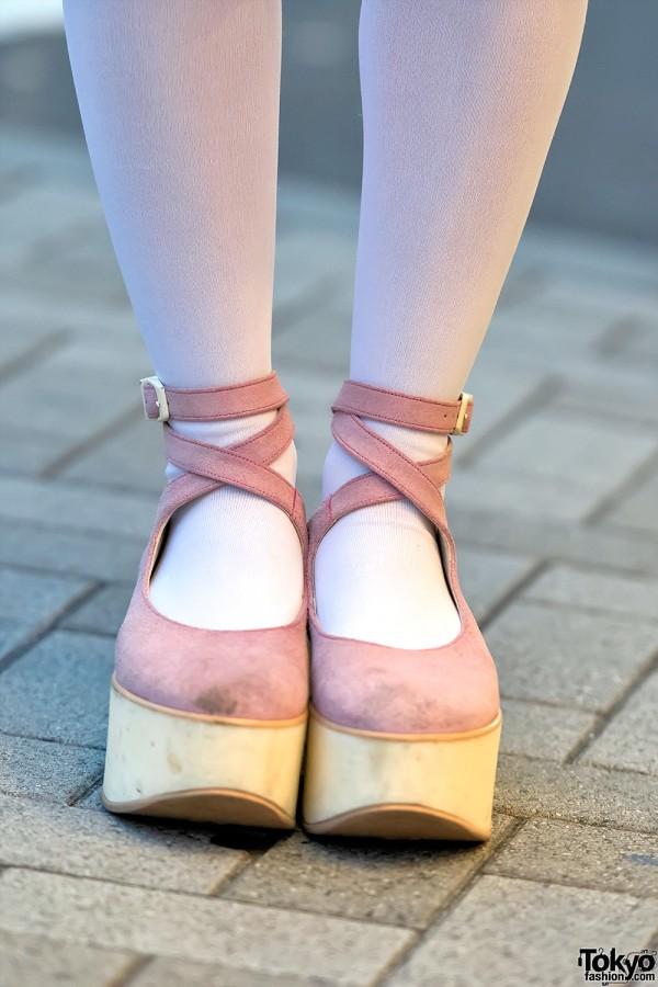 Tokyo Bopper Platforms x Thigh High Stockings