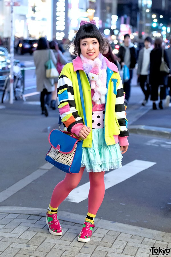Colorful Fashion w/ Galaxxxy in Harajuku