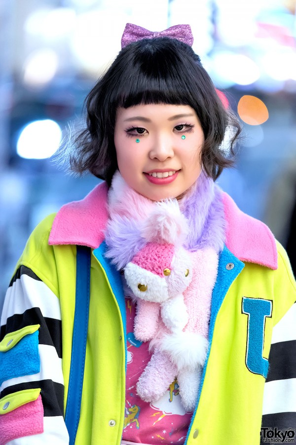 Colorful Harajuku Fashion & Plush Muffler