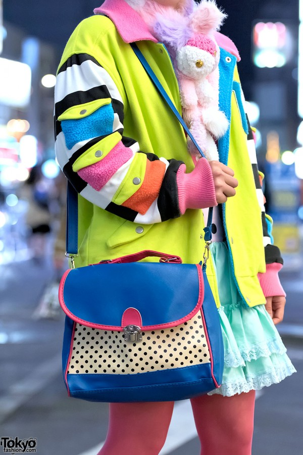 Galaxxxy Jacket & Polka Dot Purse