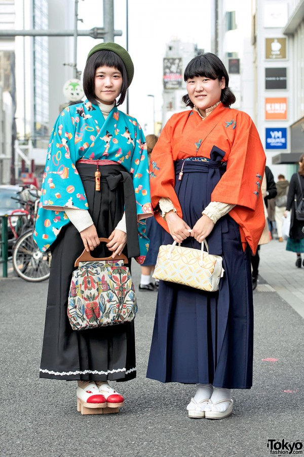 Harajuku Girls in Japanese Hakama