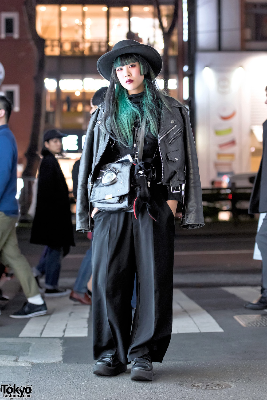 Malicious X Eyeball Bag Biker Jacket Tokyo Bopper Shoes In Harajuku