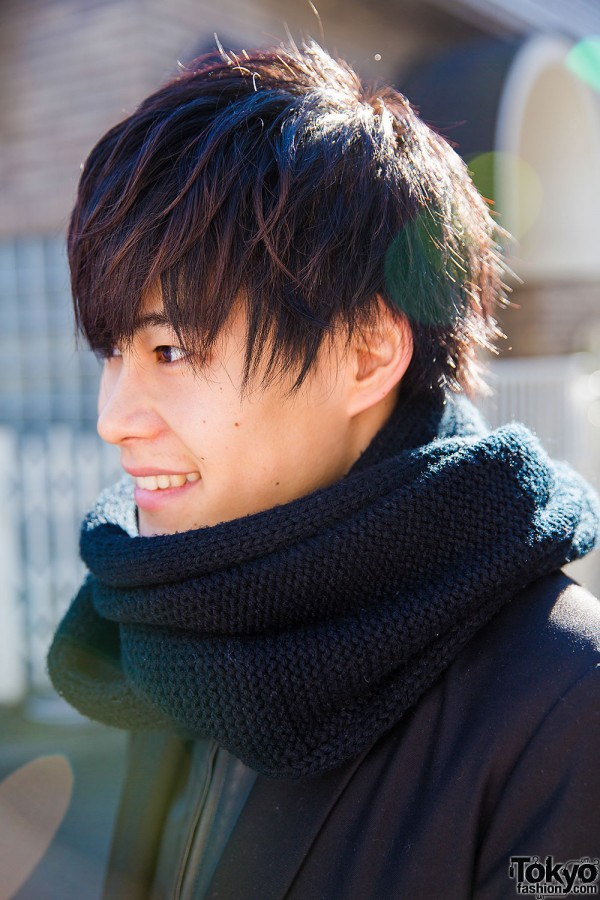 Harajuku Guy in Black Scarf