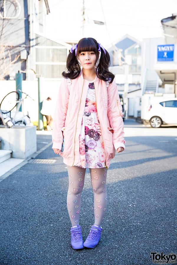 Harajuku Girl in Pastel Fashion by Milk, One Spo, Candy Stripper & Reebok