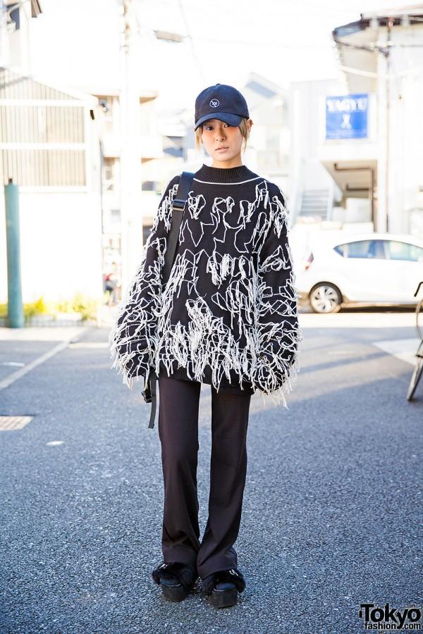 Never Mind the XU, Yohji Yamamoto & Vintage Chanel Bag in Harajuku