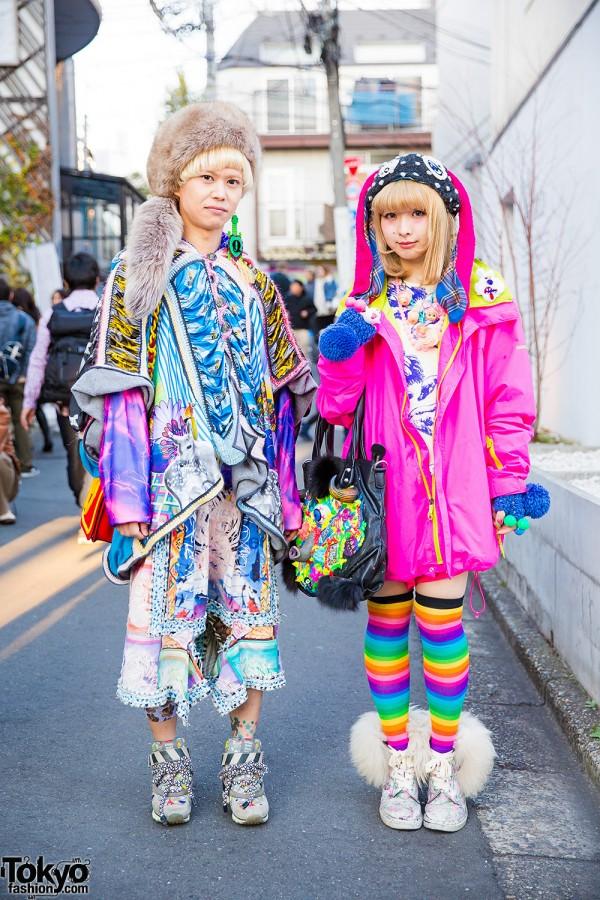 Colorful Street Styles w/ ahcahcum muchacha, Wall Harajuku, Nozomi Ishiguro, Bernhard Willhelm & Tata Christiane