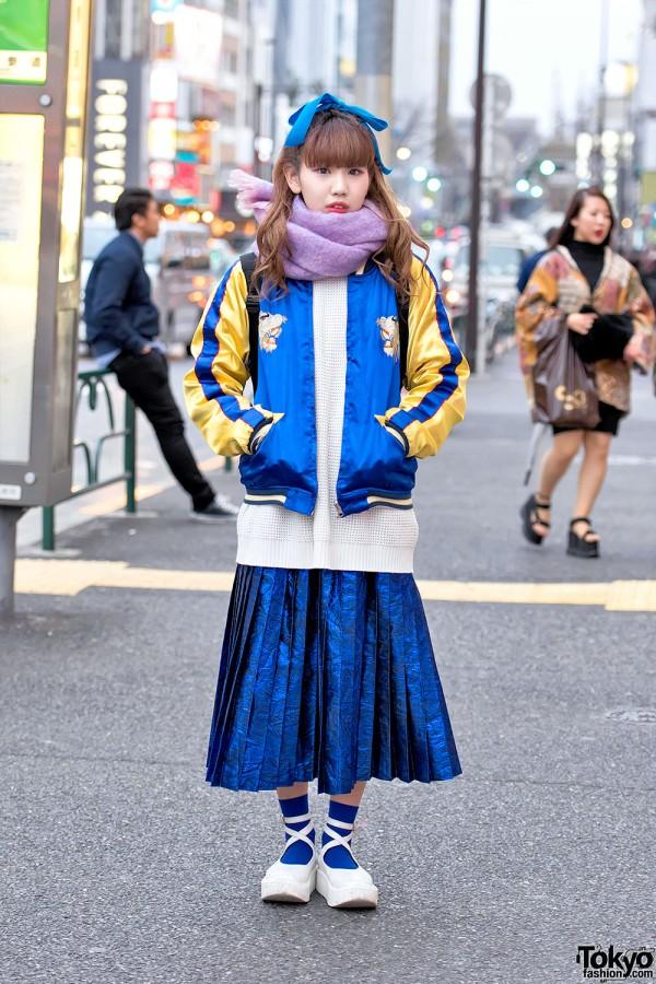 Souvenir Jacket & Pleated Skirt in Harajuku