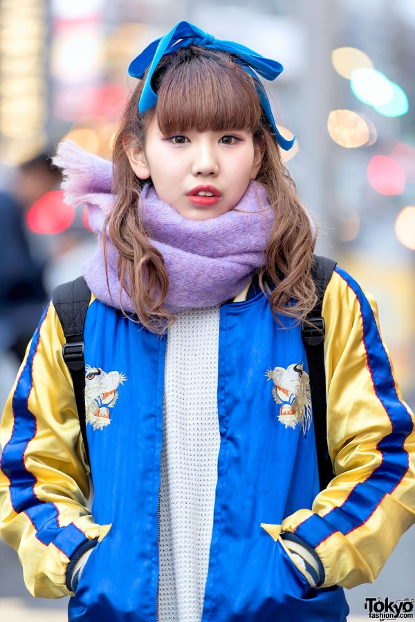 Harajuku Girl in Japanese Souvenir Jacket