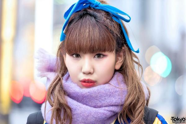 Hair Bow & Scarf in Harajuku