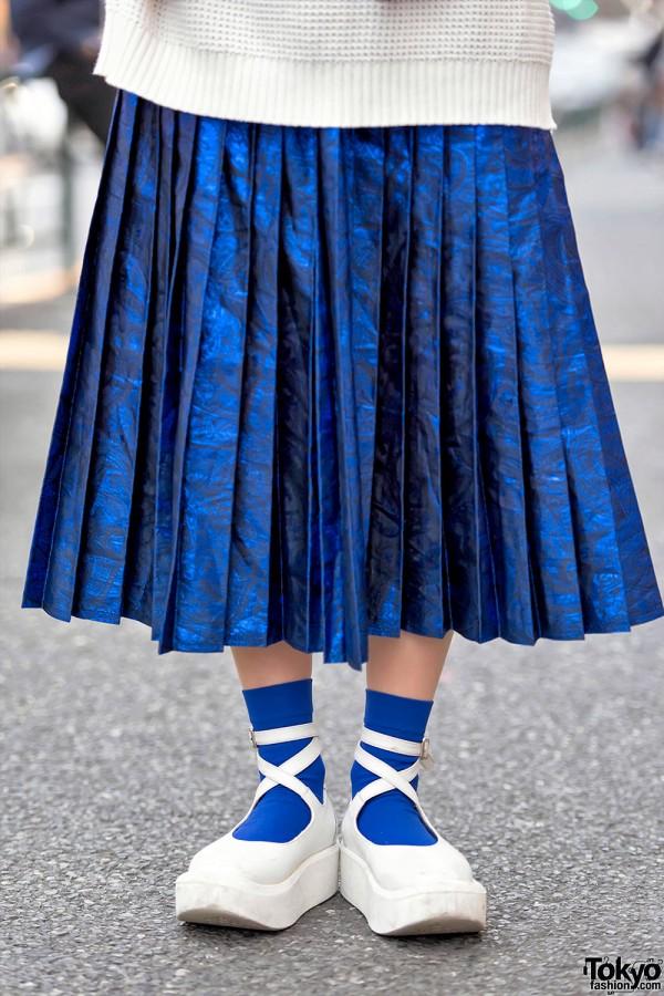 Pleated Skirt & Tokyo Bopper Platforms