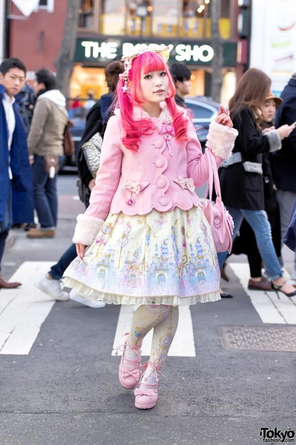 Harajuku Sweet Lolita in Baby The Stars Shine Bright & Angelic Pretty