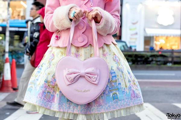 Angelic Pretty Heart Shaped Handbag