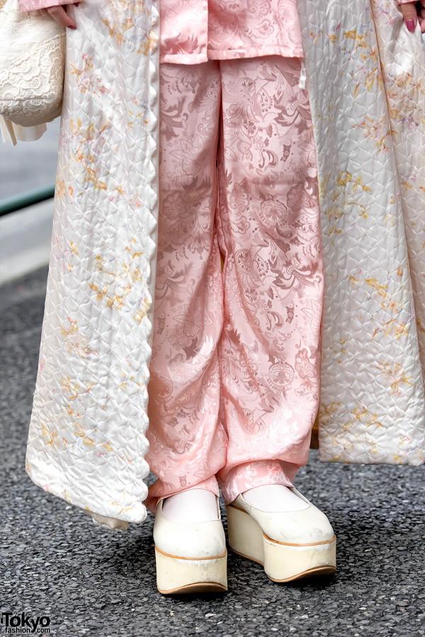 Pajama Pants & Tokyo Bopper Platforms