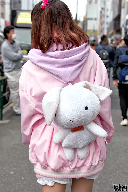 Milklim Teddy Bear Sweatshirt Plush Rabbit Fish Bag