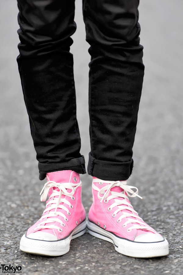 UNIQLO Skinny Jeans & Pink Converse