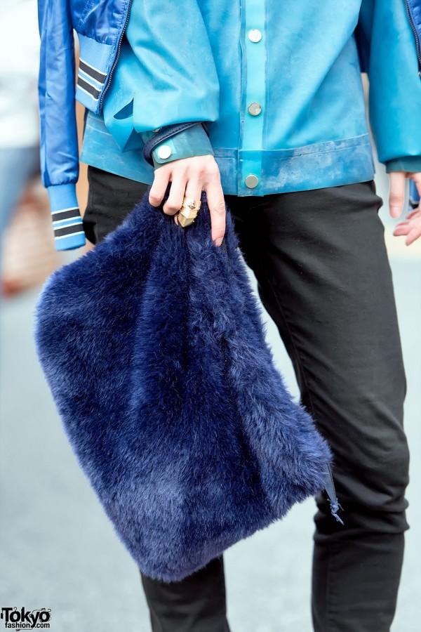 Plush WEGO Clutch Bag