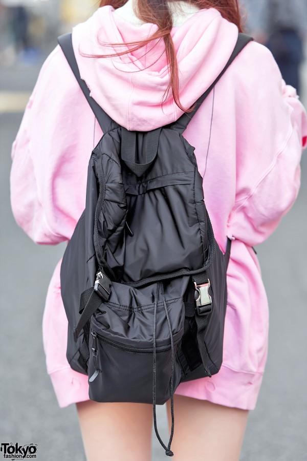 United Arrows Backpack x Pink Sweatshirt