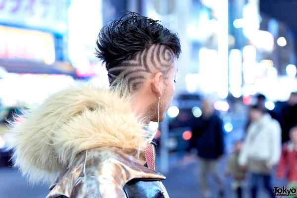 Shaved Harajuku Guy's Hairstyle