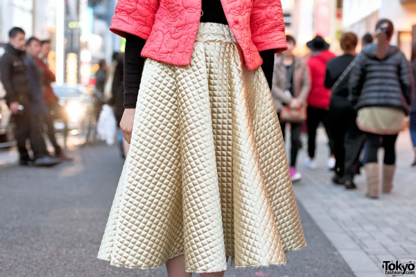 Handmade Gold Quilted Skirt