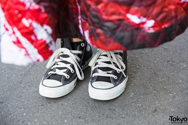 Comme des Garcons Skirt & Converse Sneakers