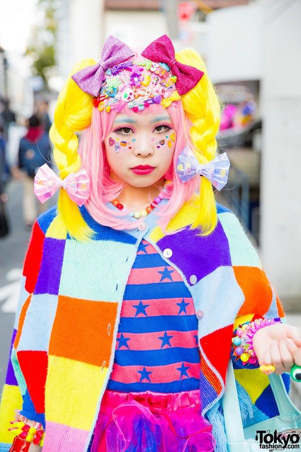 Colorful Harajuku Cape
