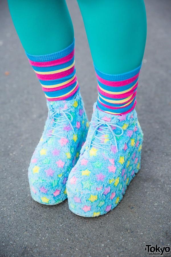 L-Chance Star Print Shoes