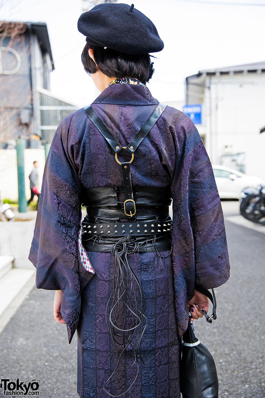 589ae6cb571 Harajuku Girl in Harness Over Kimono w  Glad News