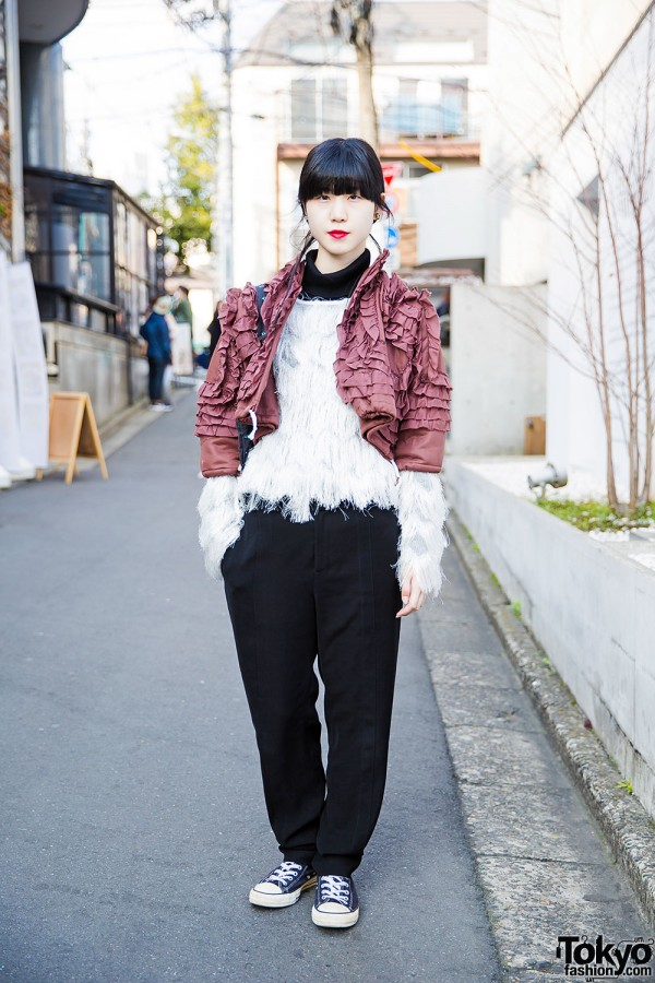 Comme des Garcons Ruffle Jacket, Alexander Wang, Opening Ceremony Bag & Chanel in Harajuku