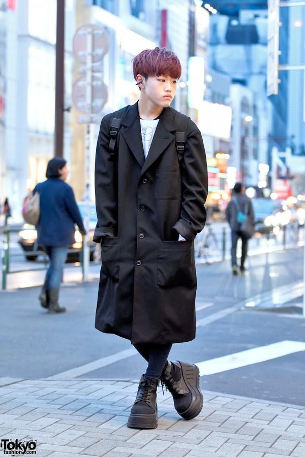 Harajuku Guy w/ Purple Hair, Yohji Yamamoto Coat, MORPH8NE & Never Mind the XU