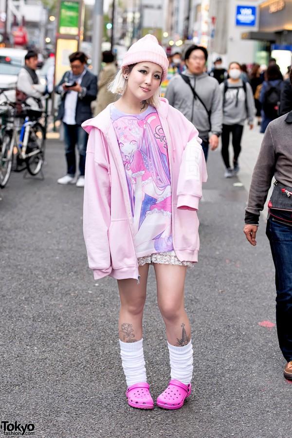 Pink Harajuku Street Style