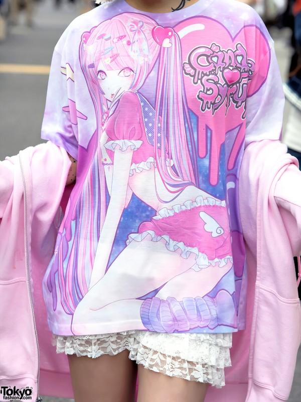 Amu x Candye Syrup Harajuku Japanese Art Tee