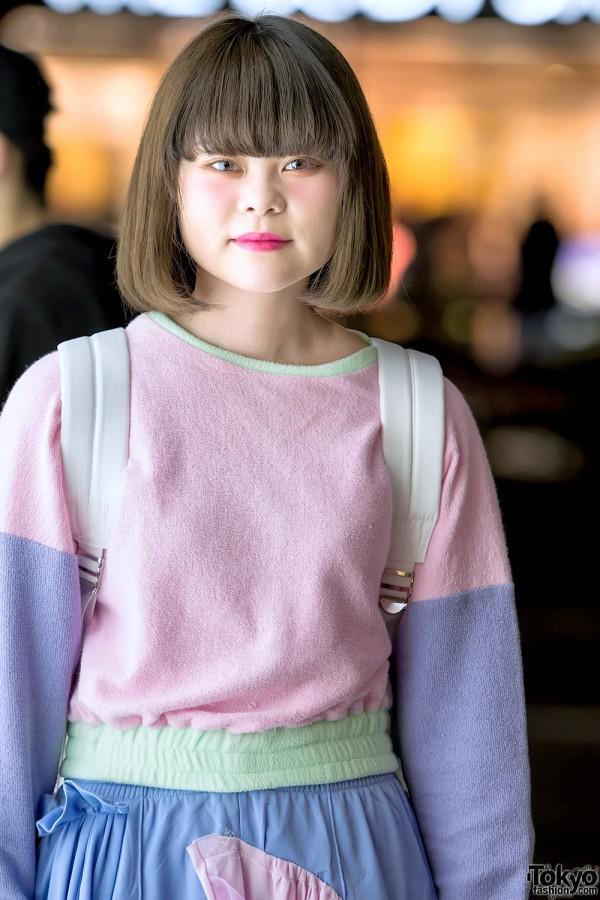Pastel Color Block Sweater