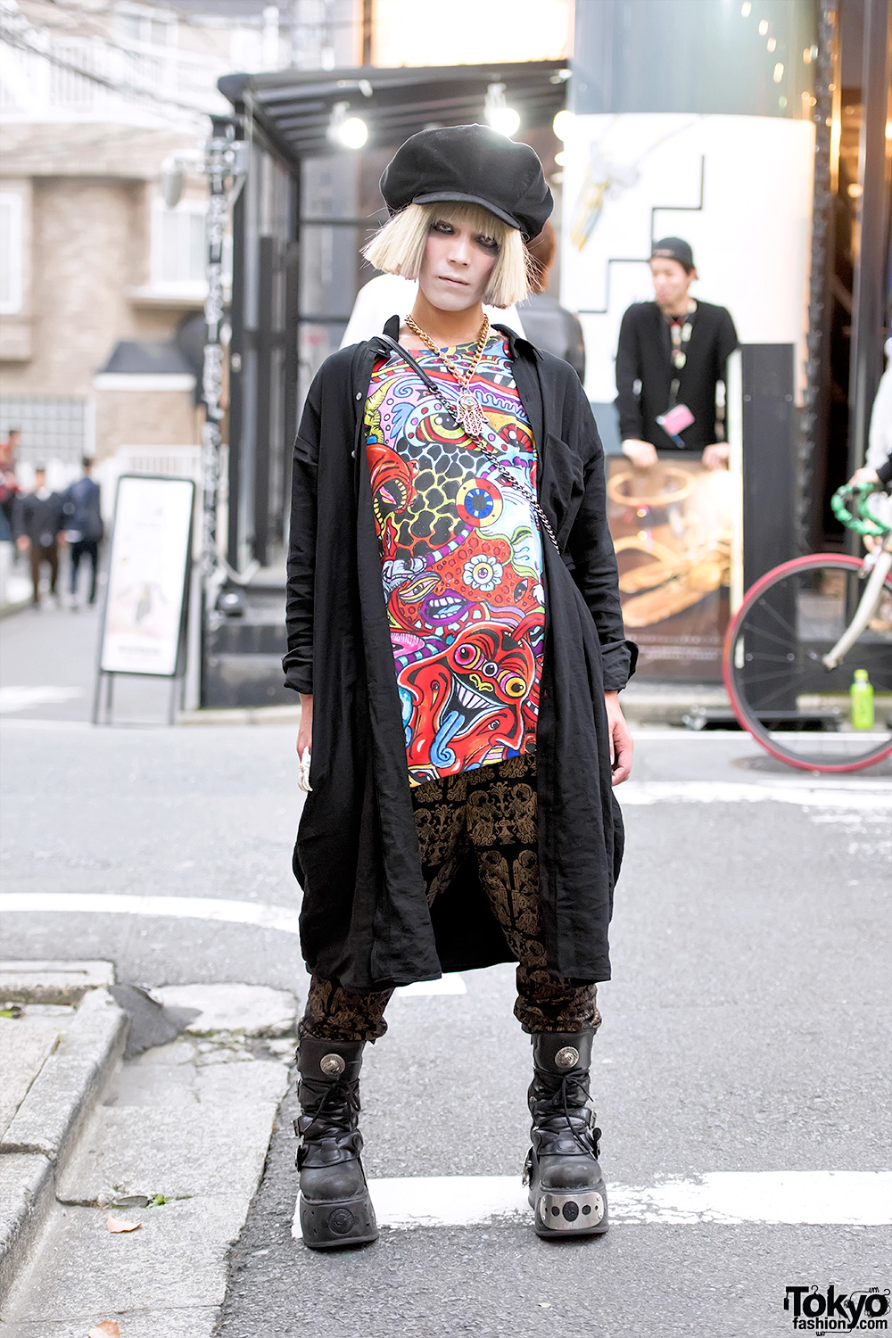 Harajuku Guy W/ Malicious.X Eye Bag, Dog Harajuku