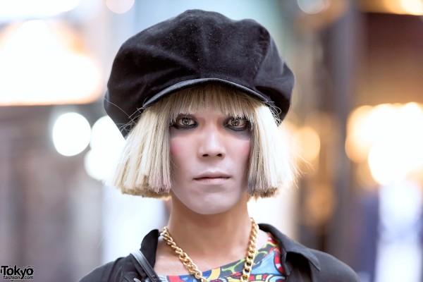 Blonde Harajuku Guy w/ Dark Eye Makeup