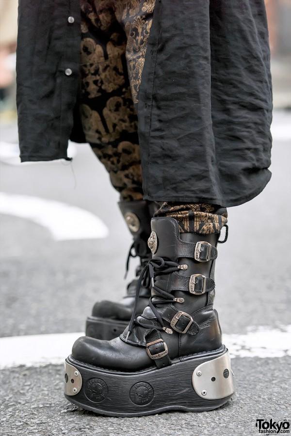 New Rock Platform Boots