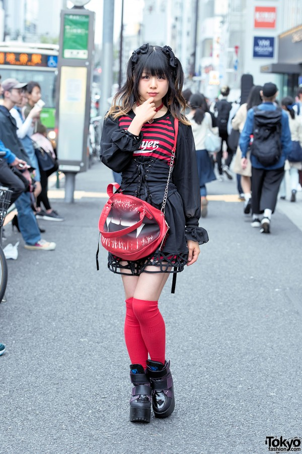 Harajuku Goth Girl In Hellcatpunks Corset Kreepsville