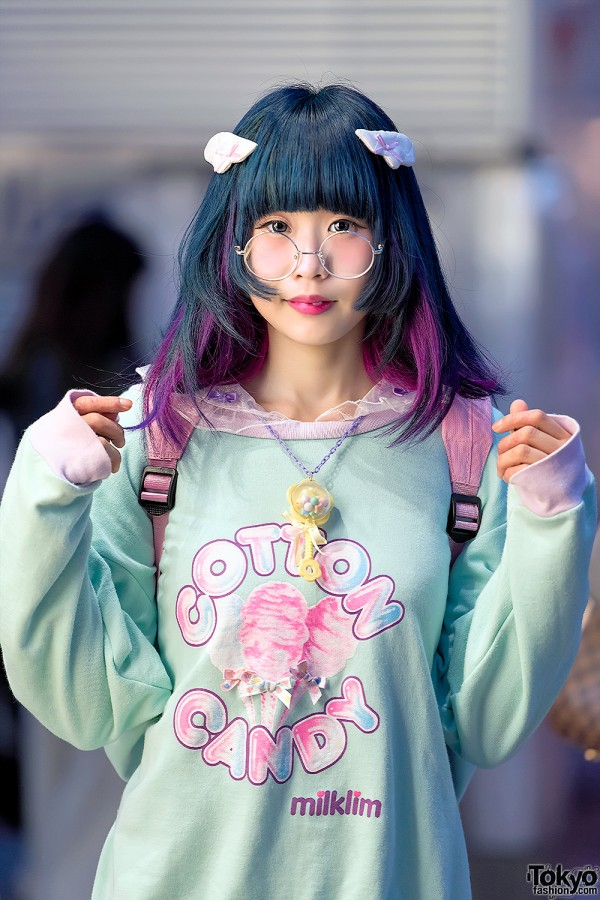 Cute Purple & Blue Hairstyle w/ Wings
