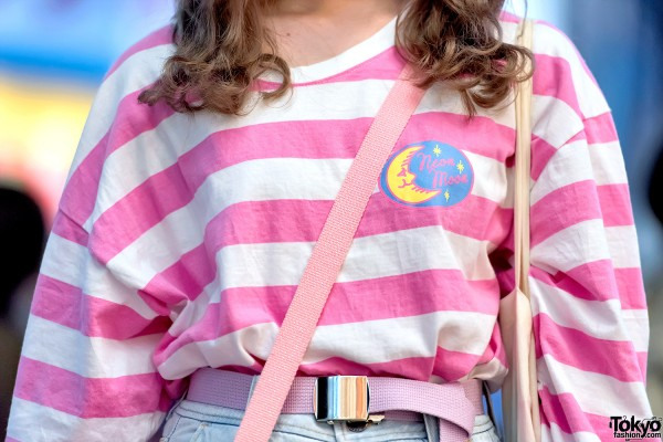 Neon Moon Striped Shirt