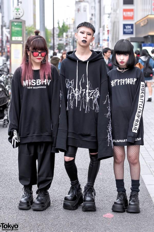 Monochome Harajuku Street Styles