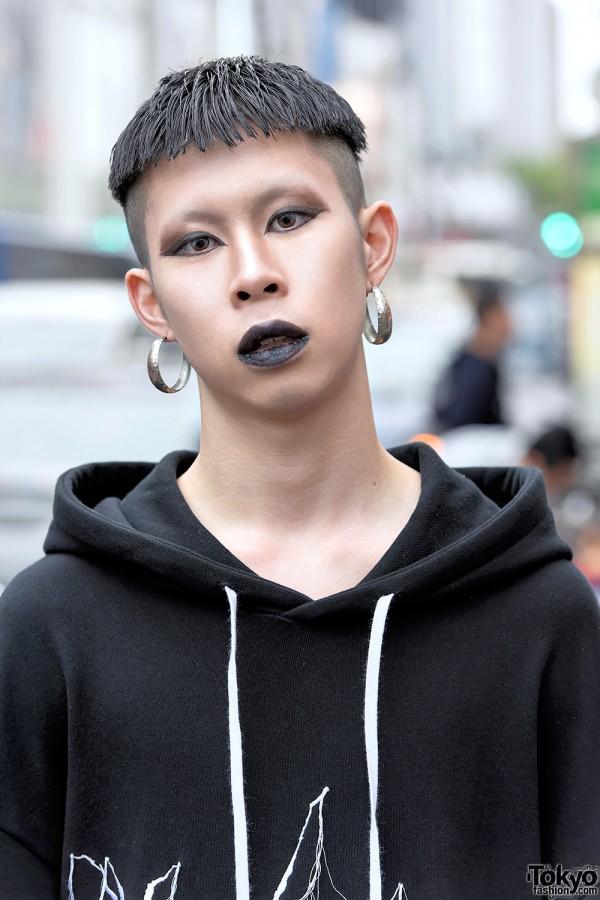 Harajuku Guy With Black Lipstick