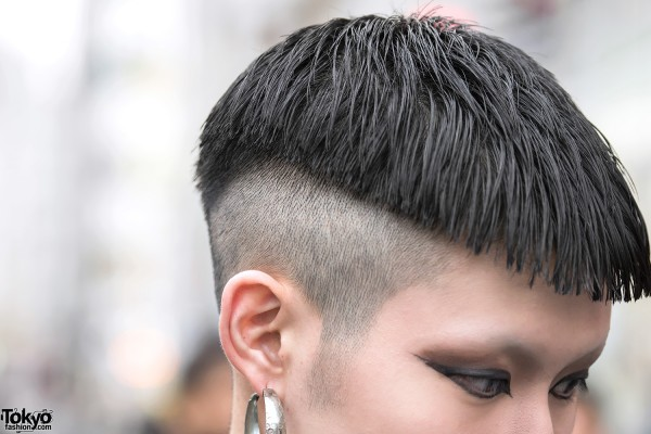 Shaved Japanese Men's Hairstyle