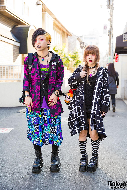 Dark Harajuku Styles W/ Body Piercings, Barokue Brain