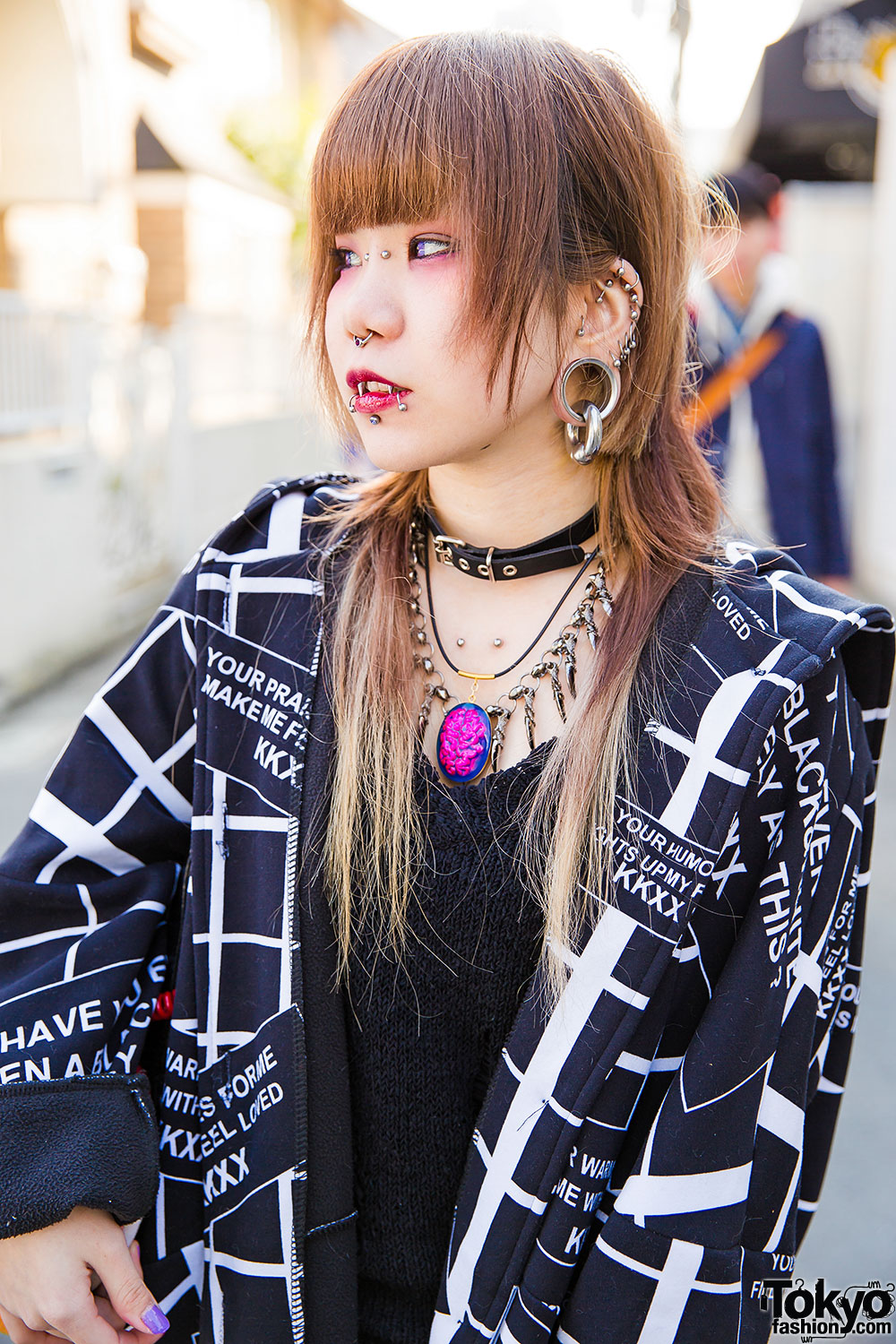 Dark Harajuku Styles W Body Piercings Barokue Brain