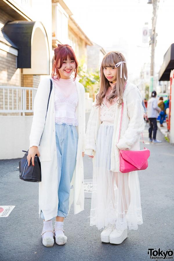 Pastel Lingerie-Inspired Styles w/ Kinji, Bubbles Harajuku, Dazzlin, UNIF & Vintage Items