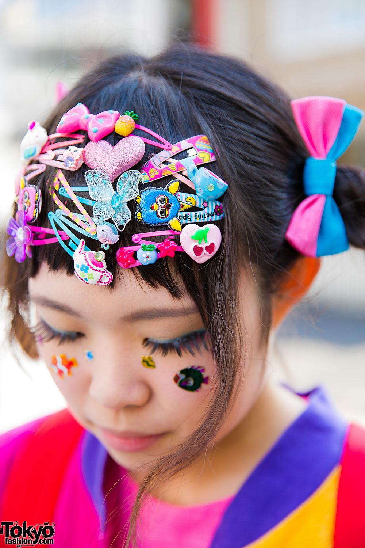 harajuku decora girl in colorful bows w acdc rag 6